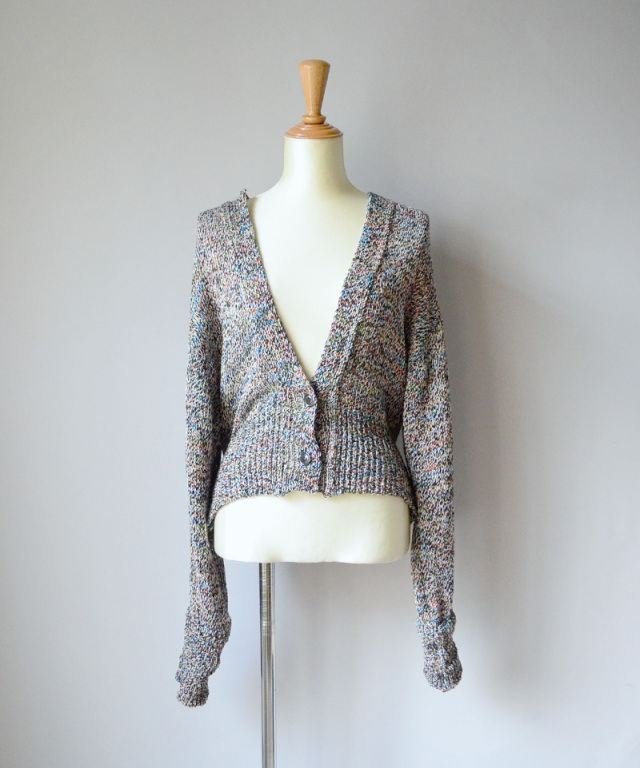 PHOTOCOPIEU rib panel cardigan MULTI