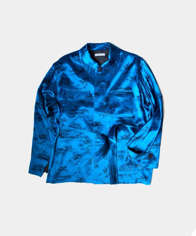 MATSUFUJI DAYDREAM Printed Jacket BLUE
