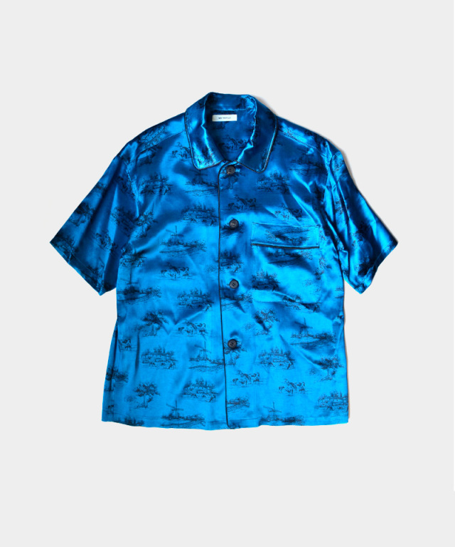 MATSUFUJI DAYDREAM Printed Short-Sleeve Shirt BLUE