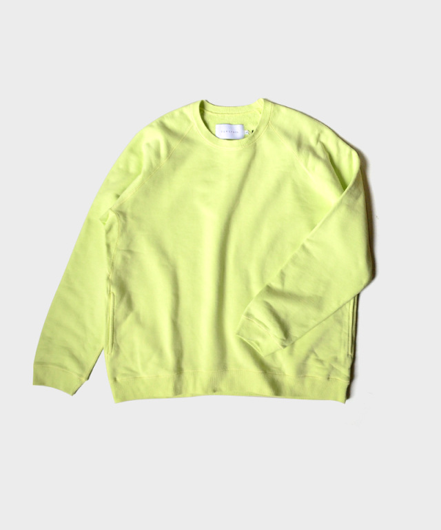 CURLY FROSTED CREW SWEAT LIME YELLOW