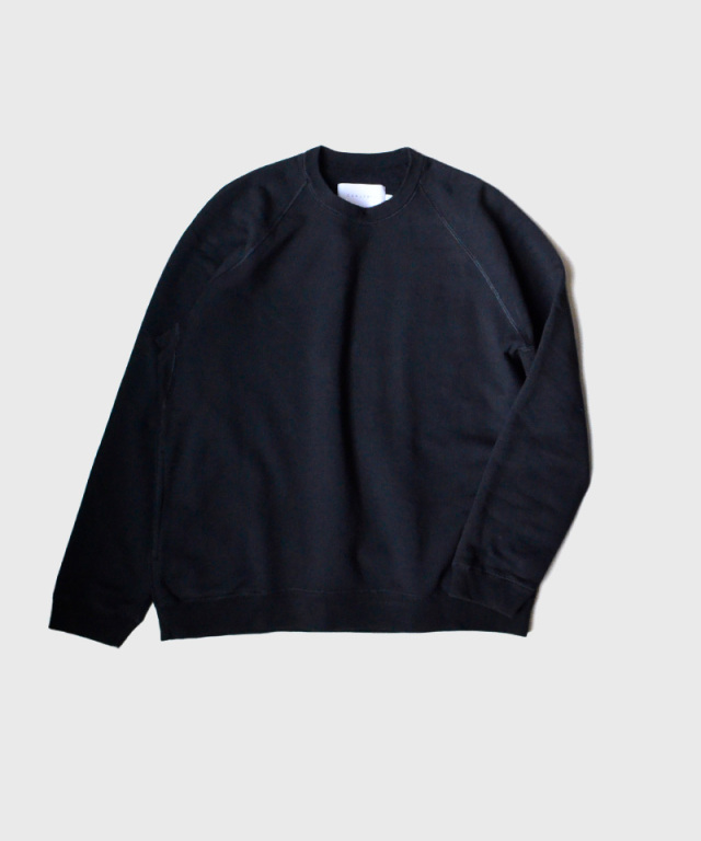 CURLY FROSTED CREW SWEAT D,NAVY