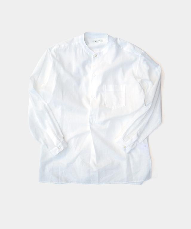 MATSUFUJI Utility Pullover Shirt WHITE