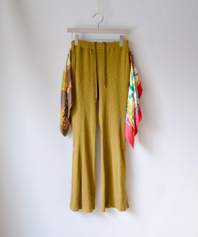 LENZ SCARF PANTS brown-A