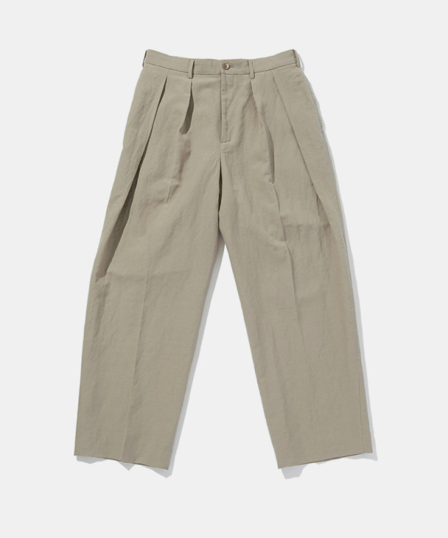 POLYPLOID WIDE TAPERED PANTS C SAND