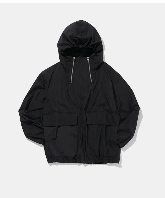 POLYPLOID HOODED JACKET C BLACK
