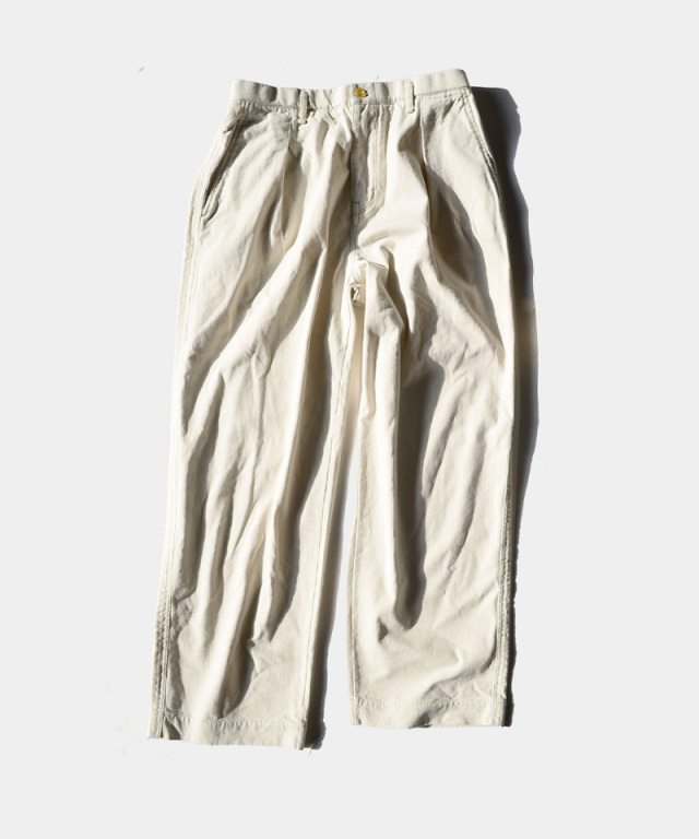 CURLY DELIGHT WIDE TROUSERS OFF WHITE