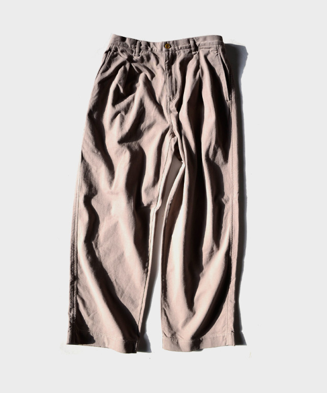 CURLY DELIGHT WIDE TROUSERS GREGE