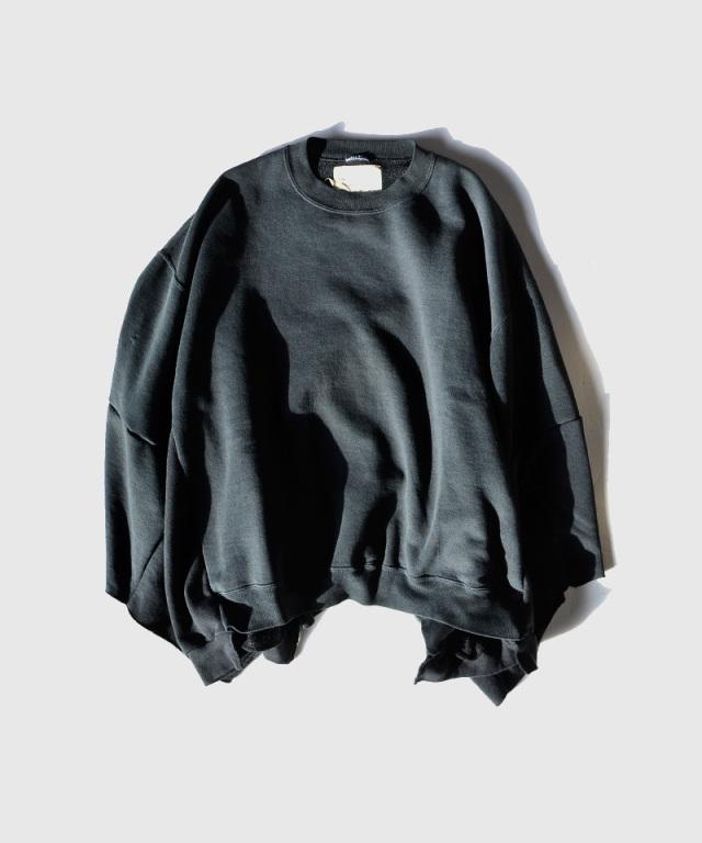 77circa circa make wide set in short sleeve sweat top black