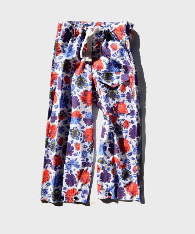 77circa origial flower print military pants White
