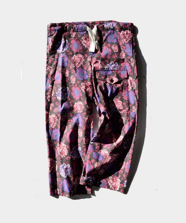 77circa origial flower print military pants Black