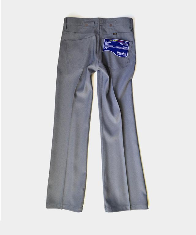 DAIRIKU Flare Flasher Pressed Pants Concrete