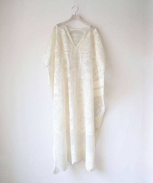 mame kurogouchi Curtain Lace Dress WHITE