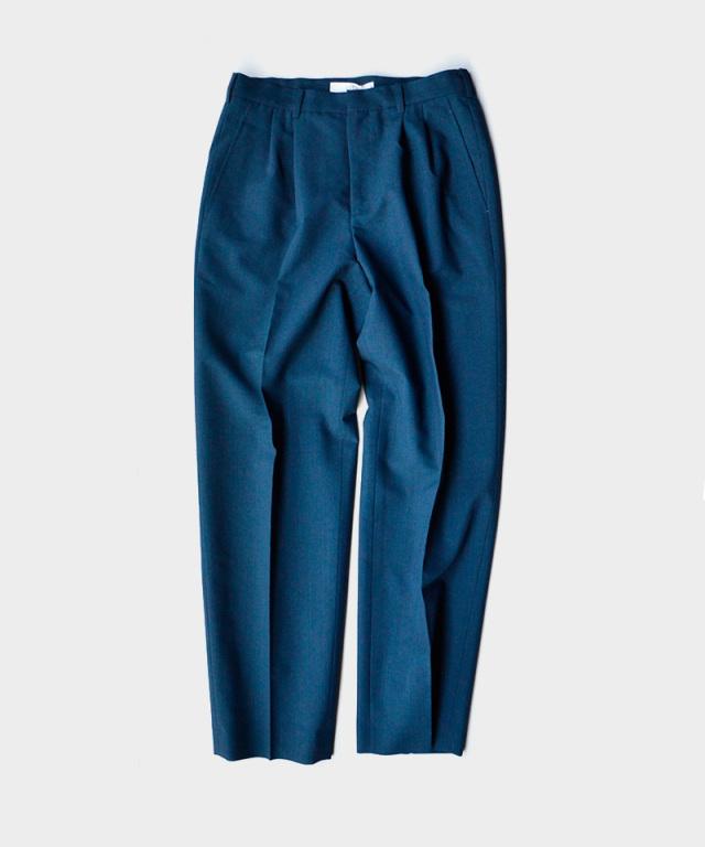 seya TRAVEL PANTS/SUMMER WOOL PEACOCK BLUE
