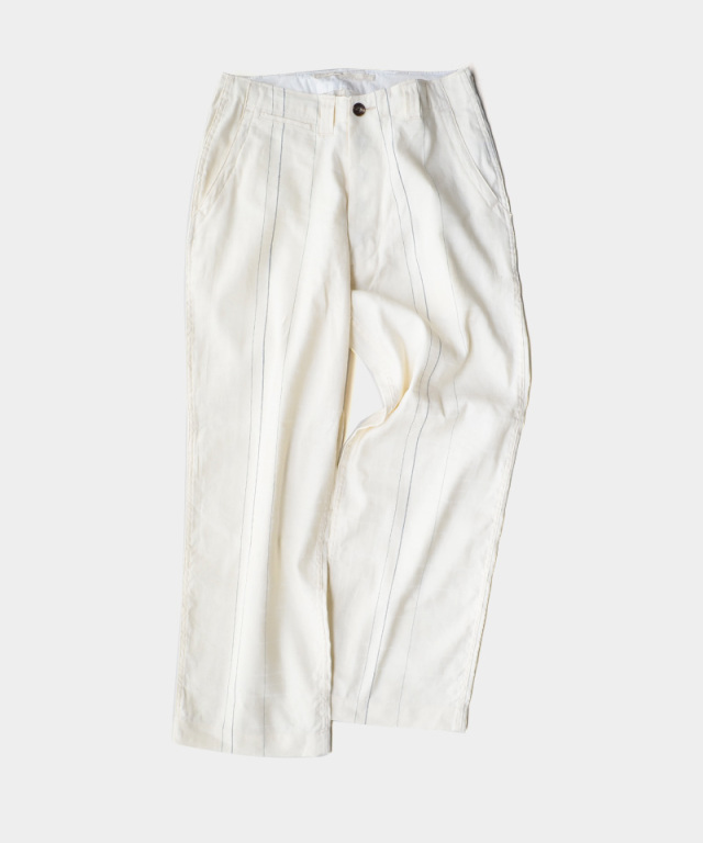 QUILP Wide Trousers WHITE CHECK