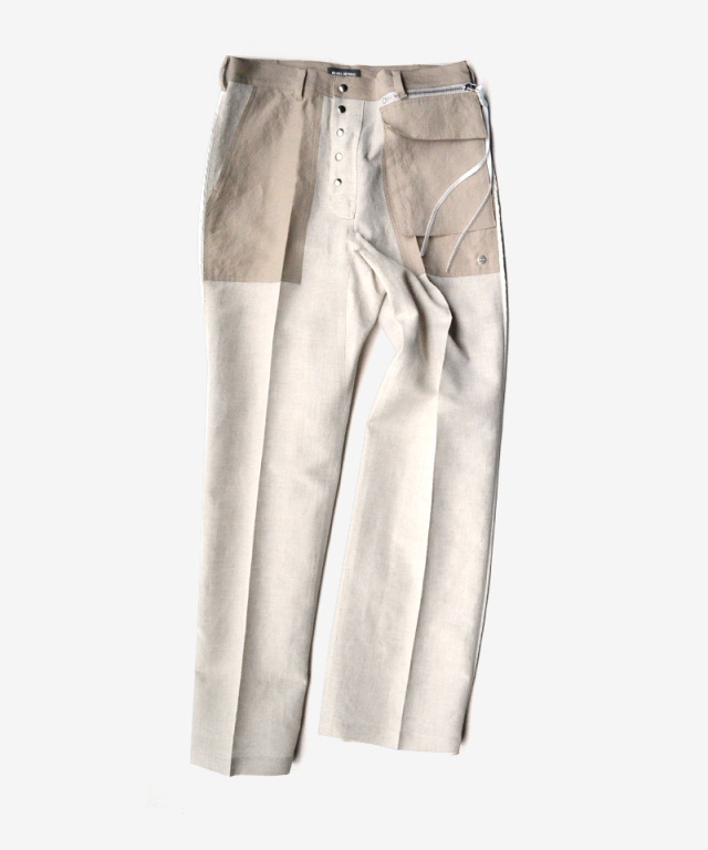 NULABEL INSIDE OUT WORK TROUSERS natural