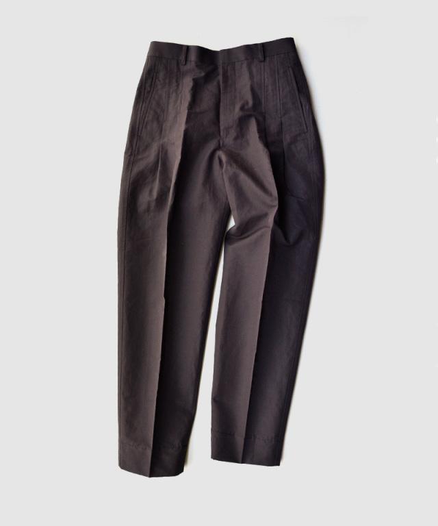 beautiful people military weather two tuck pants dark brown