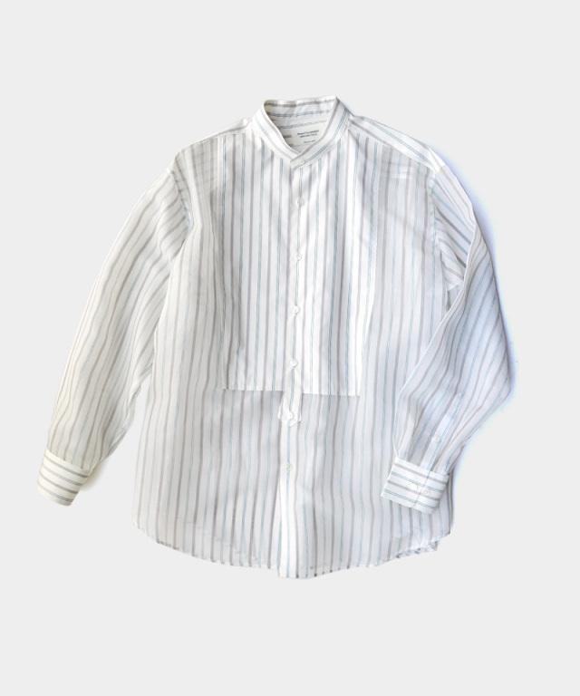 beautiful people sheer stripe tuxedo shirt ecru??black