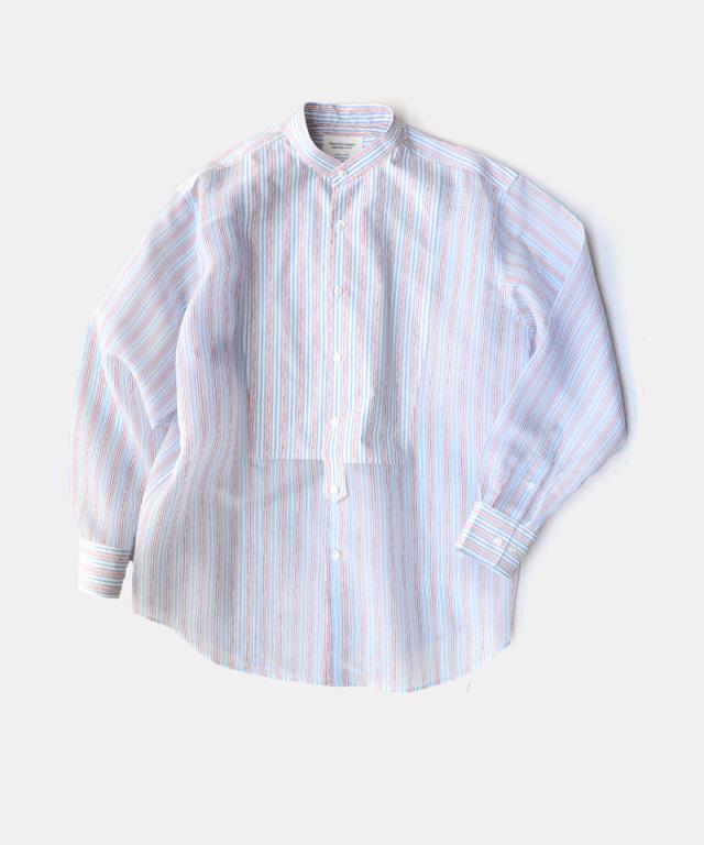 beautiful people sheer stripe tuxedo shirt sax??ecru