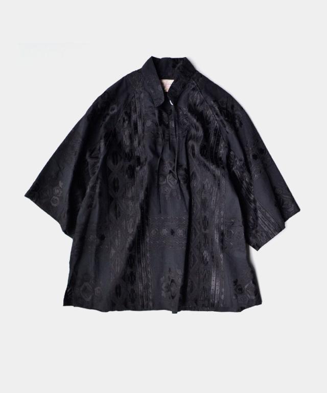 NEZU YO-HINTEN エスニックJQ チュニックSH ブラック