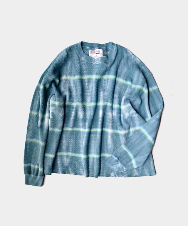 DAIRIKU Tie-dye Thermal Tee for lloomm Green/Blue