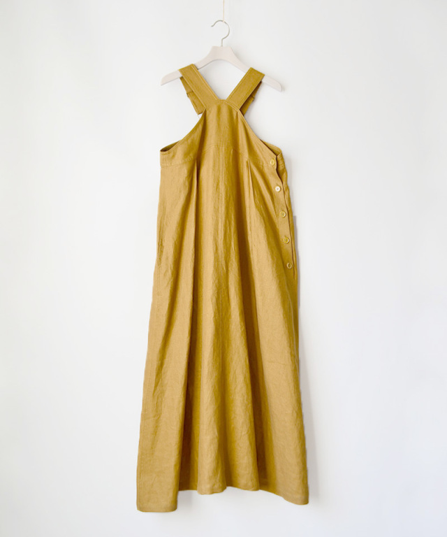 WANDERUNG LINEN ONE PIECE イエロー - Ladys