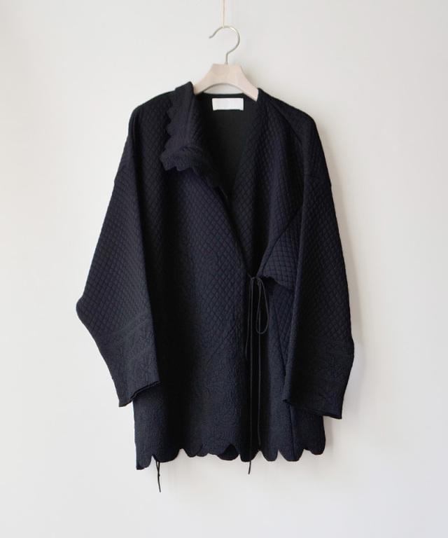 mame kurogouchi KN028 Scallop Cut Knitted Jacket  BLACK