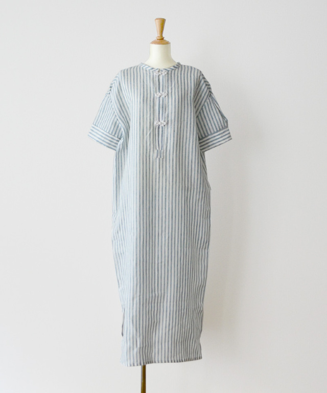 &her Linen China Shirts Dress Stripe