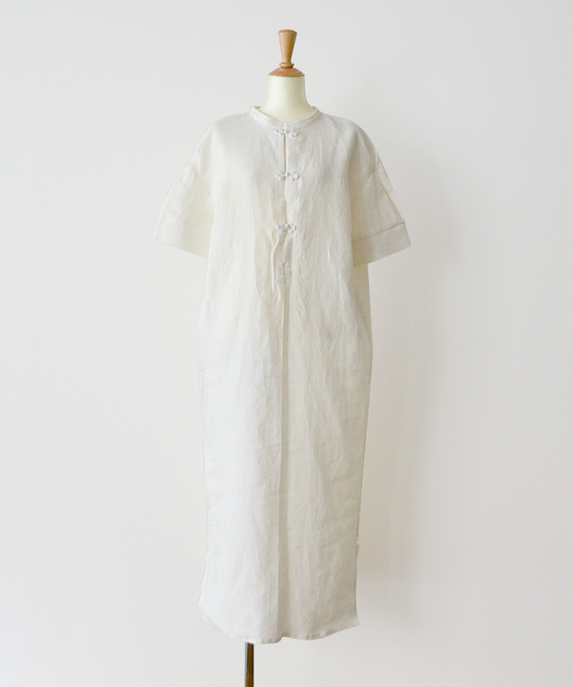 &her Linen China Shirts Dress White