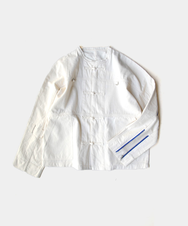 PHINGERIN ZIP RUN JACKET 2 NATURAL A:NATURAL WHITE