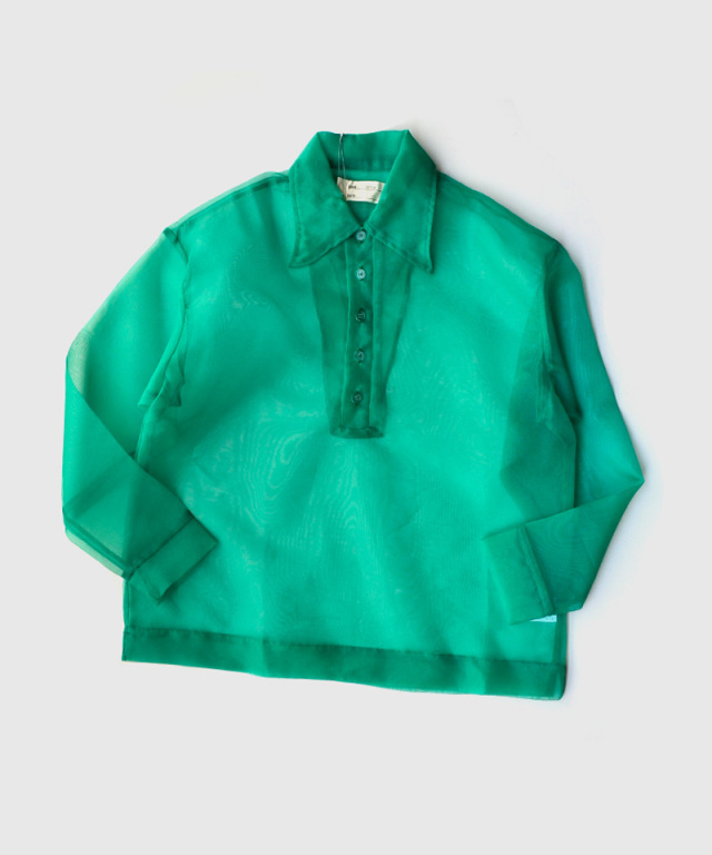 77circa tullo long sleeve polo green