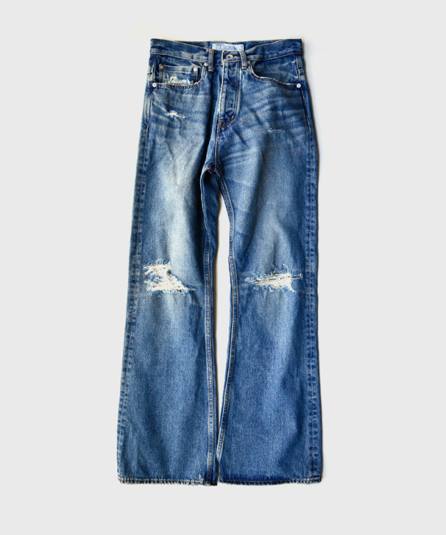 DAIRIKU Damage Flare Denim Pants