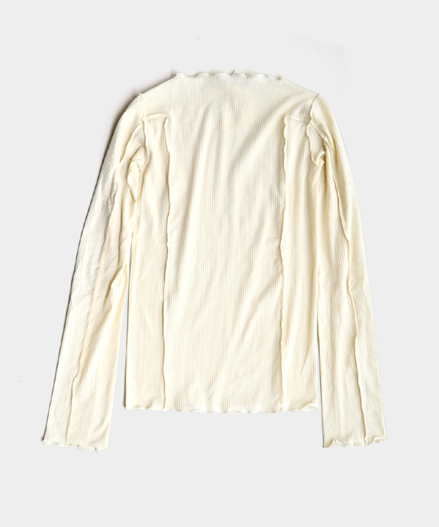 BASERANGE OMATO LONG SLEEVE OFF WHITE