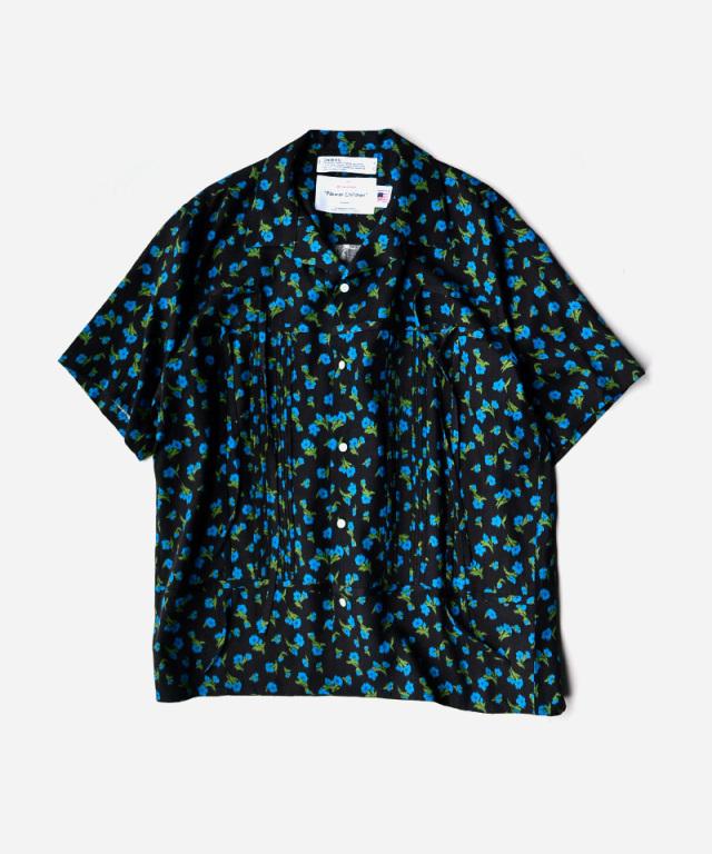 DAIRIKU Wyatt Open Collar Shirt Night
