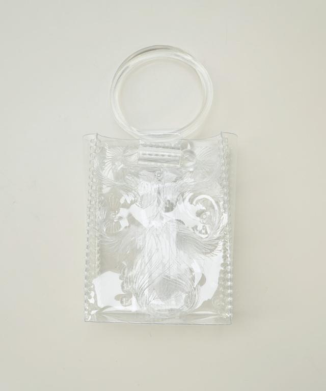 mame kurogouchi Vinyl Chloride Mini Hand Bag CLEAR