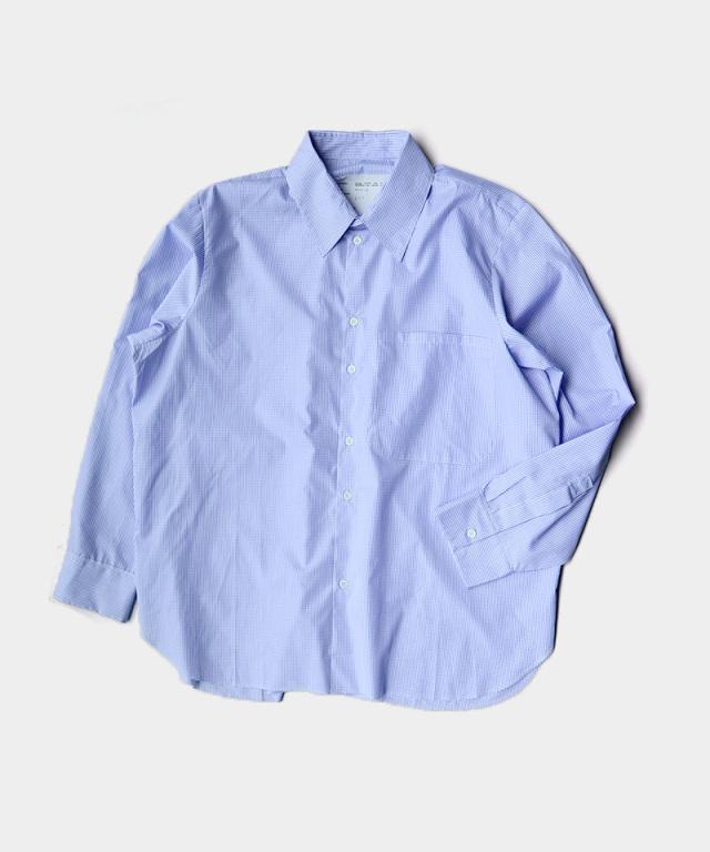 CAMIEL FORTGENS BASIC SHIRT COTTON BLUE WHITE CHECK
