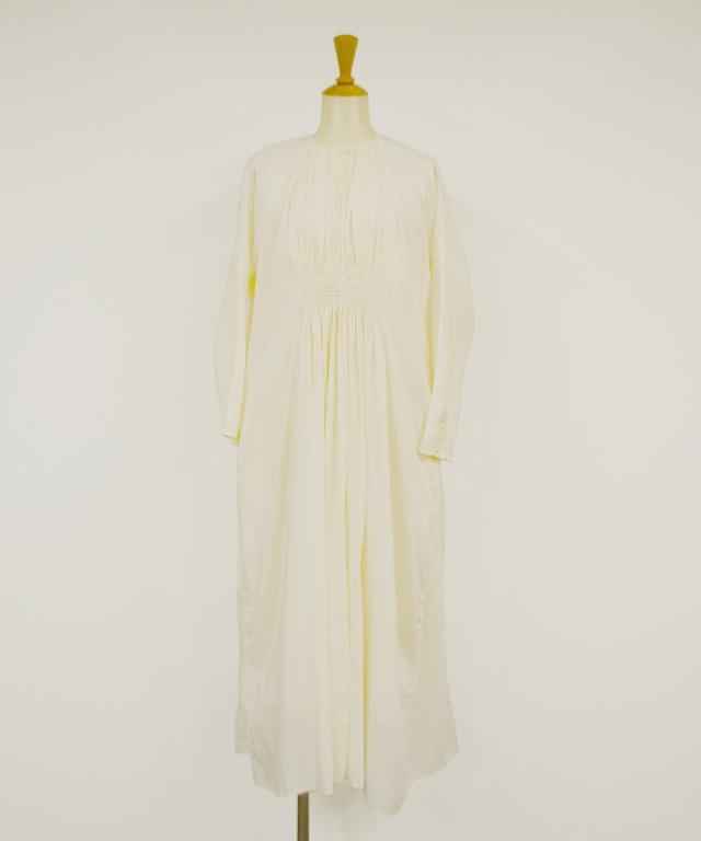 KALANCHOE COTTON SILK LONG SLEEVE DRESS