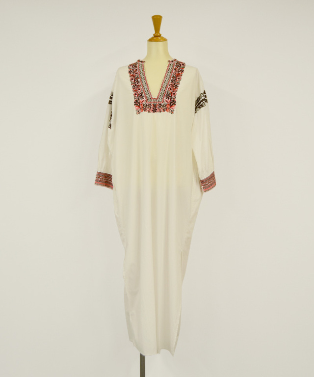 KALANCHOE POPLIN EMBROIDERY DRESS