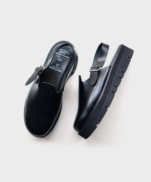 foot the coacher SS SANDALS -gloxi cut sole- BLACK