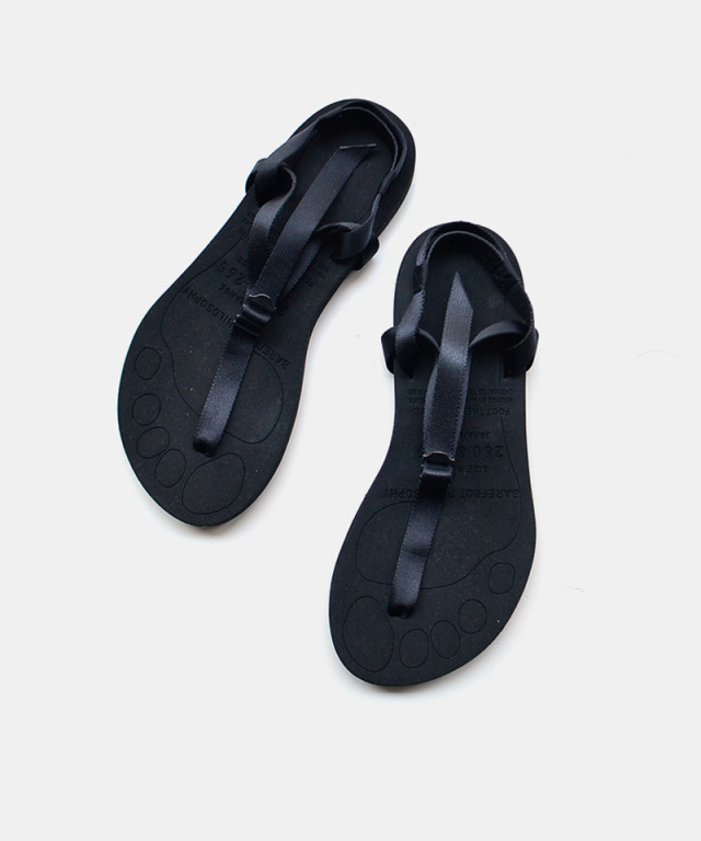 foot the coacher BARE FOOT SANDALS -thick sole- BLACK