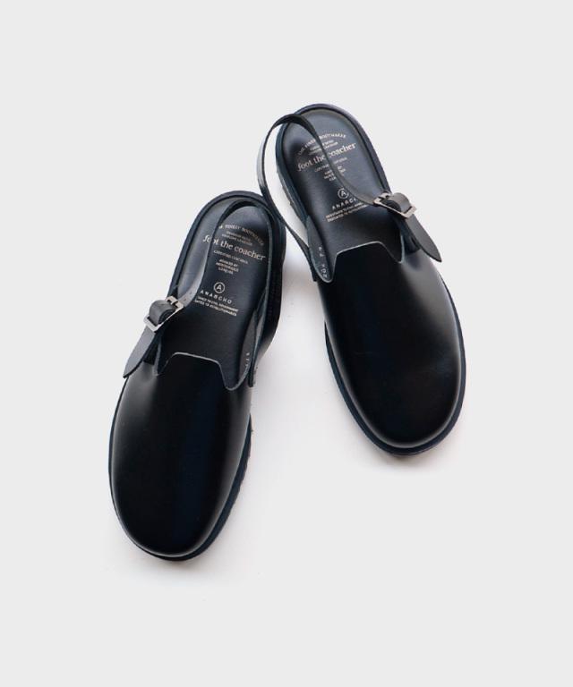 foot the coacher SS SANDALS BLACK