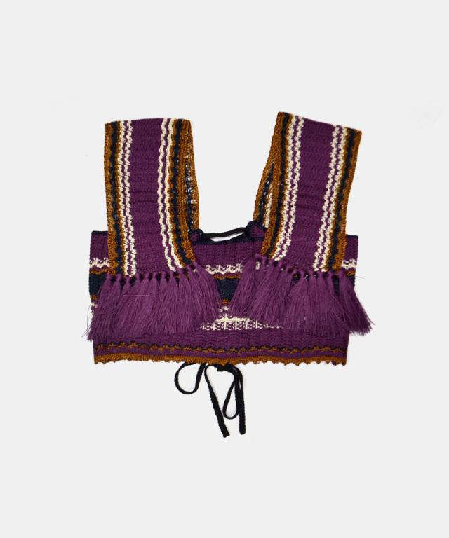 LENZ knit bustier purple