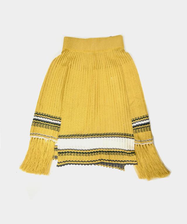 LENZ knit skirt yellow