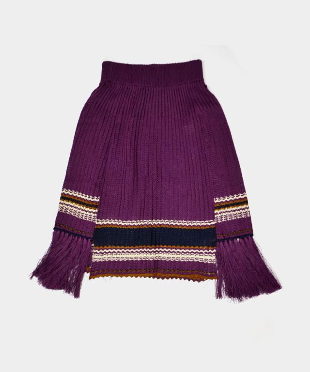 LENZ knit skirt purple