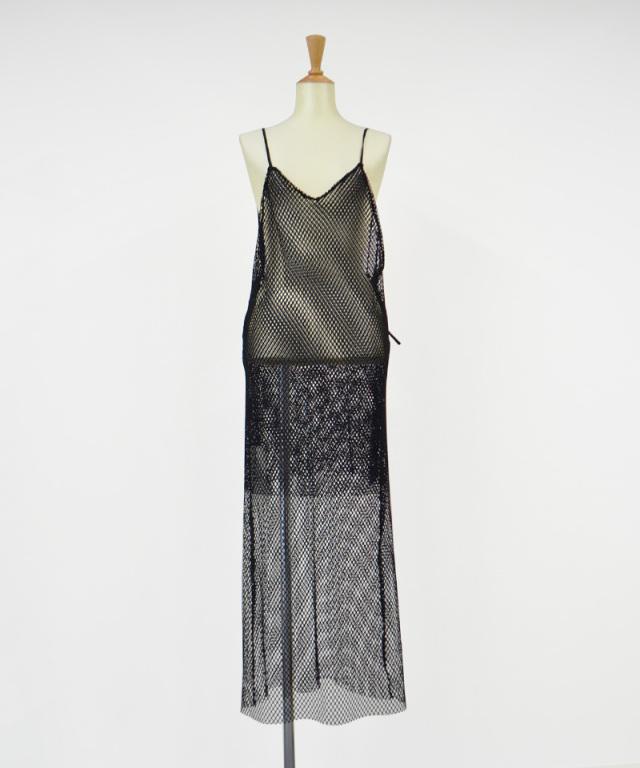 &her mesh dress BLACK