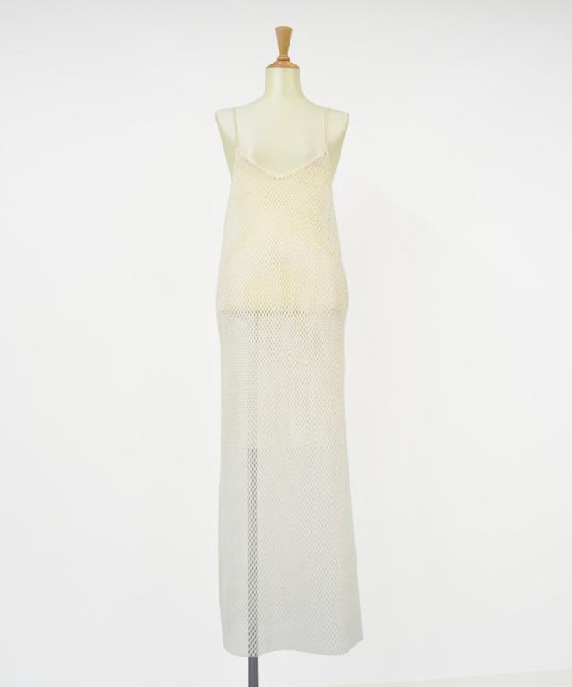 &her mesh dress WHITE