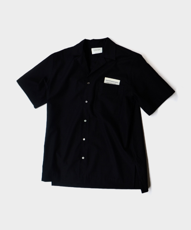 beautiful people high count basket halfsleeve shirt black