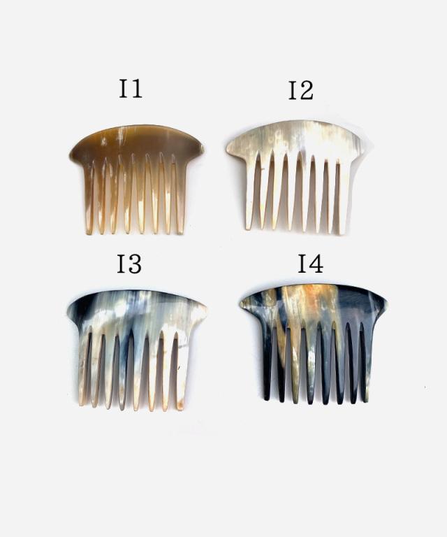 KOST KAMM Decorative comb water-buffalo horn/12×8cm/8-teeth TYPE-I