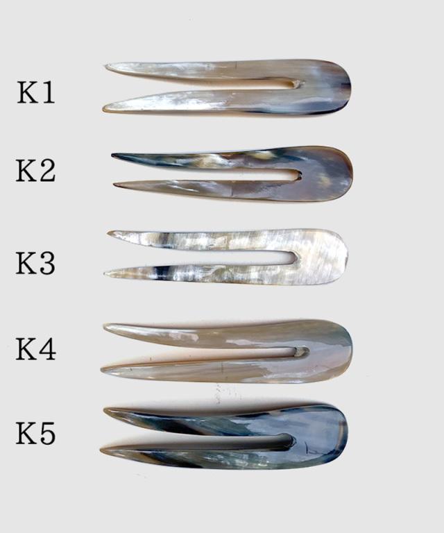 KOST KAMM Hair stick water-buffalo horn/16m/2-teeth/long TYPE-K