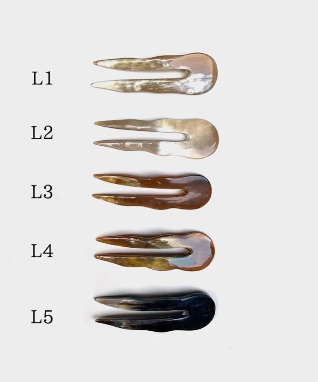 KOST KAMM Hair stick water-buffalo horn/10m/2-teeth/short TYPE-L