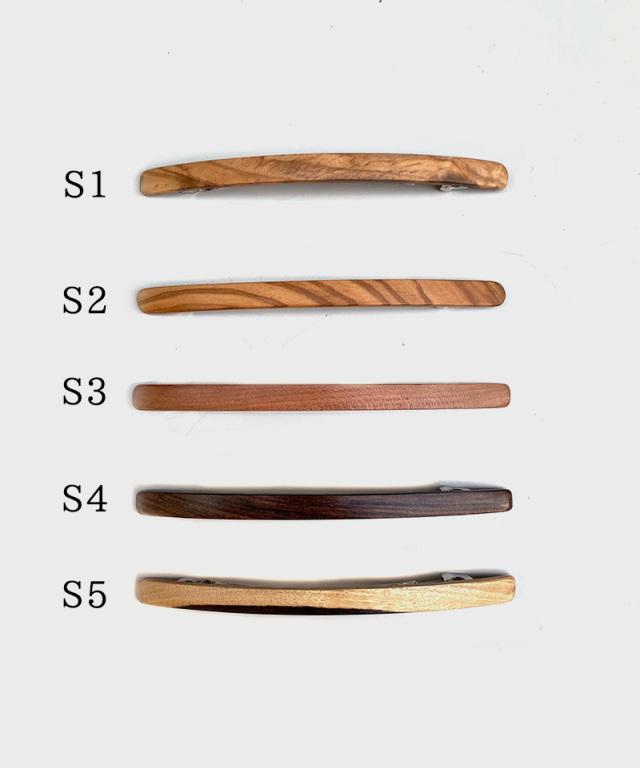 KOST KAMM Hair clip natural wood /extra slender shape/10cm TYPE-S